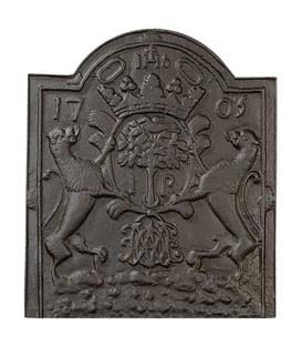 Plaques de cheminée décorées - Pattes de scellements