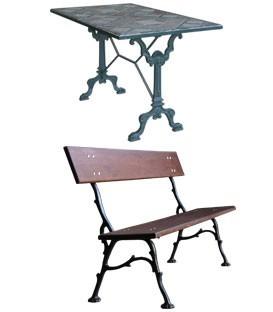 Tables - Bancs - Pieds parasol